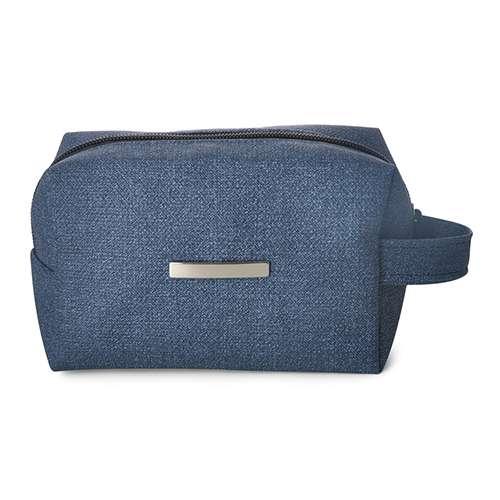 29b0cb24d Necessaire Puff Jeans Sintético 13920 para Brinde Promocional. Confira!